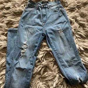Fashion Nova Skinny Distressed Jeans